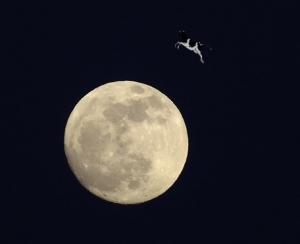 Cow jumps moon. Image provided by NASA
